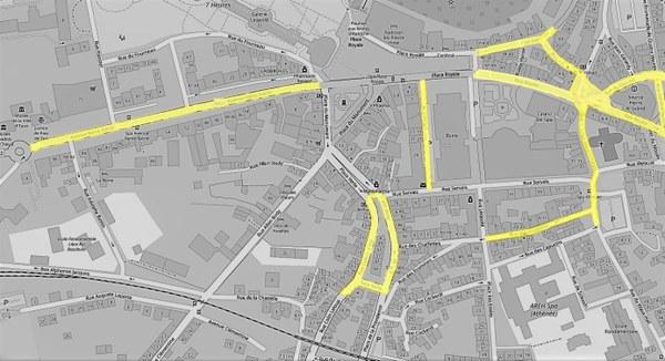 carte de la zone d'application de Créashop à Spa