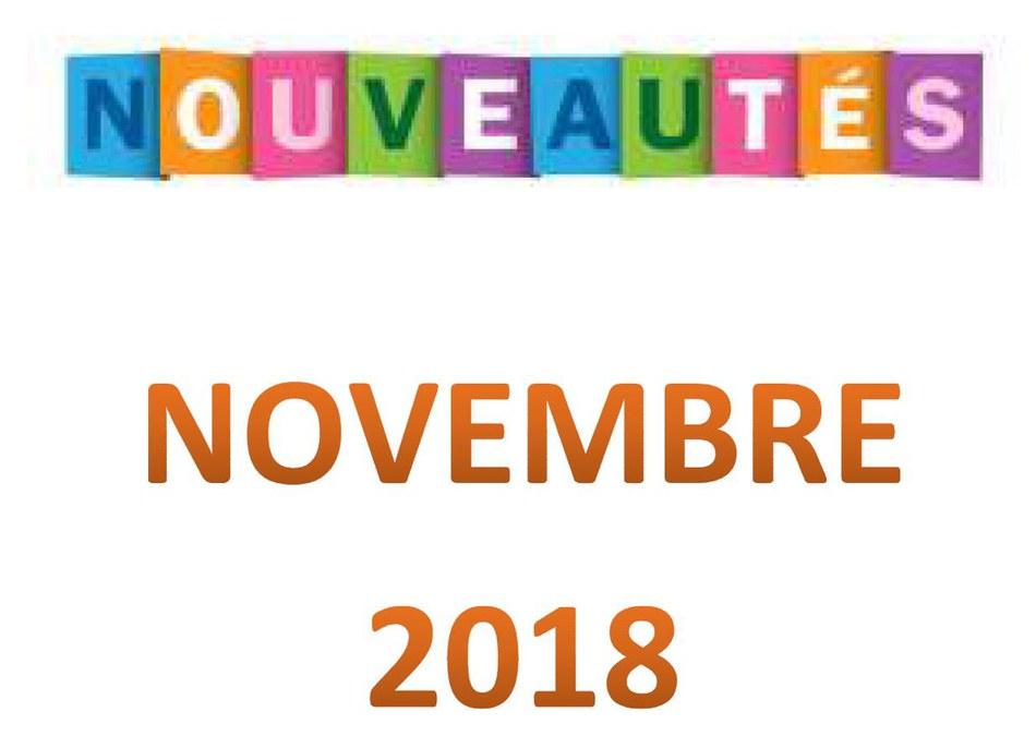 Nouveautés_novembre_2018