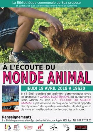 """Rencontre avec Carol Bouteraon - """"A l'écoute du monde animal"""""""