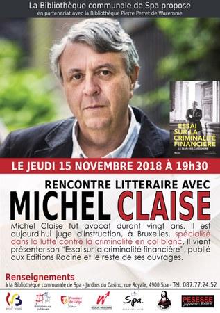 Rencontre avec Michel Claise