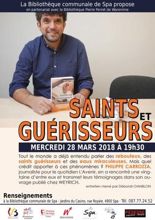 """Rencontre avec Philippe Carrozza - """"Saints et guérisseurs"""""""