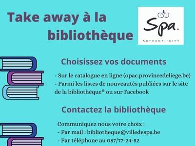 Take away à la bibliothèque