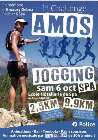 Jogging à la mémoire d'Amaury Delrez ce samedi 6 octobre.